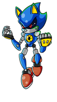 Metal Sonic by halfway-to-insanity