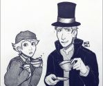 Luke and Layton by Aryanel