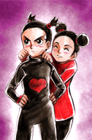 Pucca and Garu by G--I--R