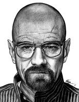 Bryan Cranston (as Walter White) by k-dezign