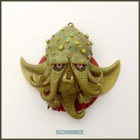Chthulu Dragon #15 - Polymer Clay Charm by buzhandmade