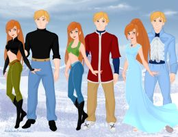 Kim Possible and Ron Stoppable by M-Mannering