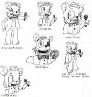Chuck E. Cheese in Others' Styles by fyaro2k