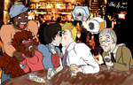 Wrath + Lust OTP Day 9 - Hanging out with friends by artisticallystrange