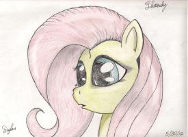Fluttershy (Facial Sketch) by I-TwistedFury-I