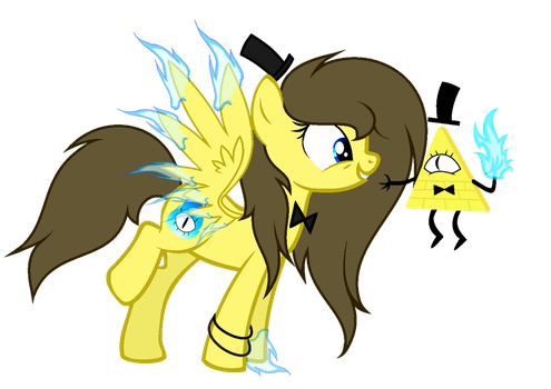 MLP Cipher Dash And Bill Cipher by WingLightYT