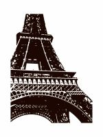 Brown Eiffel Tower by sej