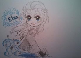 Elsa chibi sketch by 33starrynight33