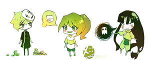 Spirited Away Chibis .-. by xisced