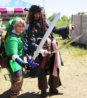 Link meets Captain Jack Sparrow! by sugarpoultry