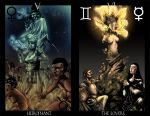 Hirajeta Tarot 5 and 6 by TheIronClown