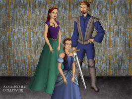King Triton, Queen Athena, and Princess Aquata. by Katharine-Elizabeth