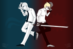 Lord Egbert and Sir Strider by superawesome-gurl