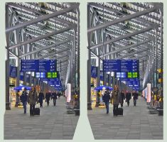 Passengers at the airport X-3D by zour