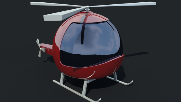 Cartoon helicopter by pedrozanin