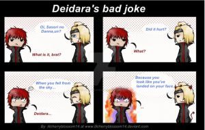 Deidara's bad joke by LilCherryBlossom14