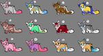 10 points adoptables canines 8/12 OPEN Ashy-the-fo by CankeShy