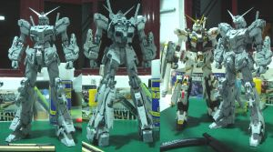 MG Gundam Unicorn Full armor WIP by alphaleo14