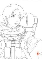 PLANETES - Tanabe Ai  lineart by sharingandevil