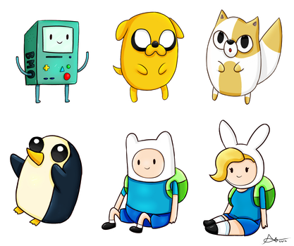 Adventure Time Doods by apanda54
