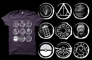 The 9 Symbols T-shirt by Anlarel