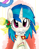 Vinyl says 'Happy Holidays' by Urin-MP