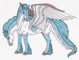 Two Headed Dragon Horse by Shara-Moonglow