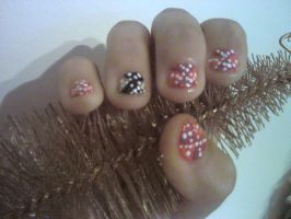 Dotty Argyle Nail Design by Experimently-Bernsie