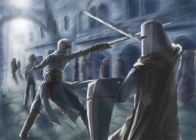 Altair VS Templar by xzodust