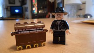 Terry Pratchett and The Luggage by iamtherealbender
