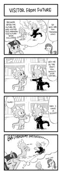 MLP 4koma Page 3: Visitor from Future by hydrowing
