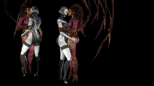 EDI and Kerrigan make out by Hellraiser-89