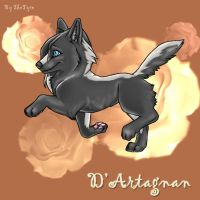 D'Artegnan Wolf Pup Comish by TheTyro
