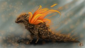 Pinecone Dragon by YourEverydayArtist