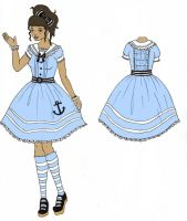 Contest entry dress design 3 by chocolatehomicide