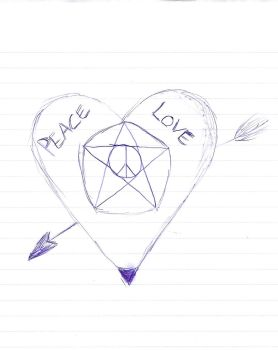 Peace, Love and a Pentagram by MrVoid666