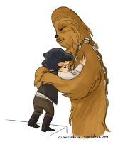 Ben and Chewie by aimeezhou