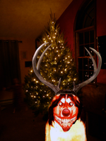 Smile Dog The Red Nosed Reindeer by MrAngryDog
