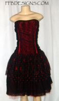 Black spider formal dress by funkyfunnybone