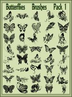 Butterflies    Brushes    Pack 1 by Tetelle-passion