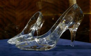 Glass slippers at Dartington Crystal by points2014