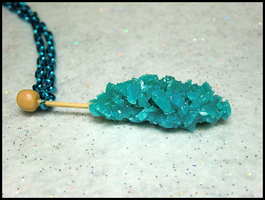 Blue Rock Candy Necklace by GrandmaThunderpants