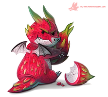 Daily Paint #1081. Dragon Fruit Keeper by Cryptid-Creations