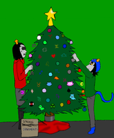 Decorating the Gristmas Tree by IamaCutie