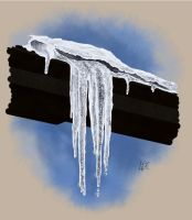 An icicle family by lomartistic