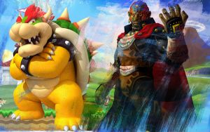 Ganondorf and Bowser (No Logo) by Link-LeoB