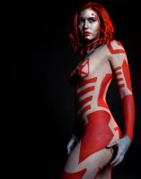 Original Tron Red Bodypaint by DavidKanePhotography