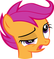Scootaloo-'Bleh' by Th3m0vingshad0w