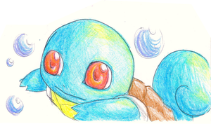 Squirtle --Exam Boredom by Kay-Love