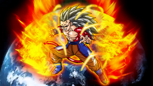 Goku True SSJ4 Wallpaper by Nassif9000